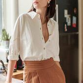 97% de coton dans cette chemise COSMO ou l'on se sentira bien tout l'été!   Ps: On le mixe avec le pantalon PERLE taille haute pour un look parfait.  #laureplusmax #ootd #lookdujour #whiteshirt #shirt #pant #summer #collection #fashion #brand