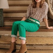 Total look Almae avec la blouse CLARISSE et le pantalon PETRA 🍀  www.almaeparis.com   #almaemuse #shirt #lookdujour #fashion #lookoftheday #ootd #totallook #pantalon #blouse