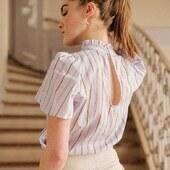 Remonter ses cheveux et laisser apparaitre les details sublimes du top BEE.   A shopper sur almaeparis.com  #almaemuse #fashion #lookdujour #lookoftheday #ootd #blouse #summer #top #paris #brand